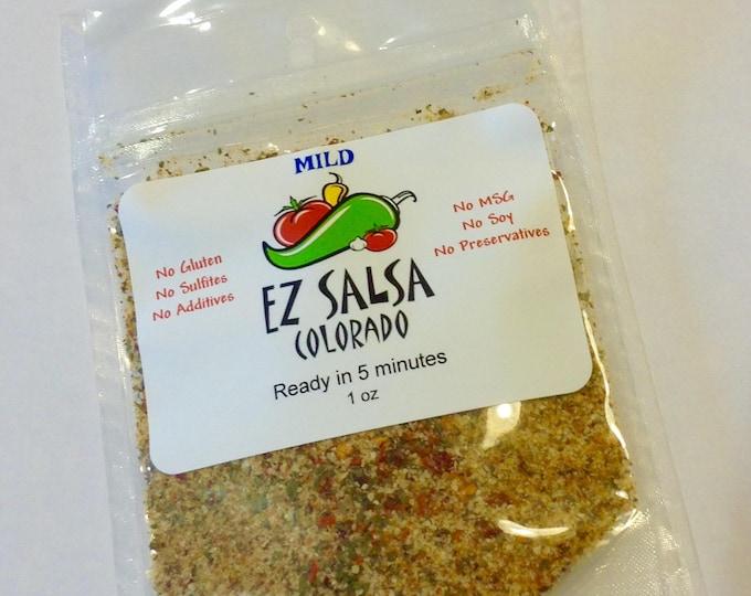 MILD EZ Salsa  Gluten Free. Organic. vegan friendly. No preservatives Paleo friendly no MSG