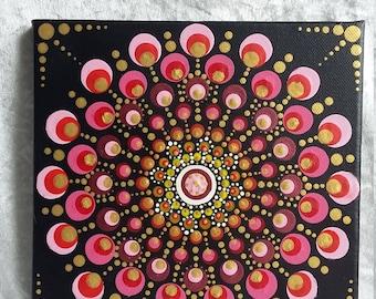 Loving Kindness - Love Mandala - 20cm Painting on Canvas