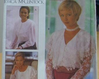 Simplicity 8811 Jessica McClintock blouse sewing pattern 12 14 16 UNCUT