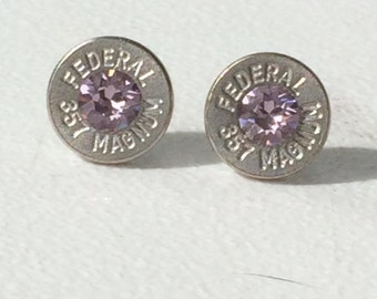 357 bullet stud earrings