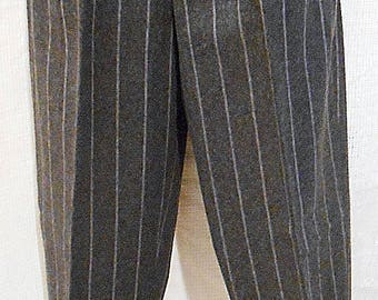 Wool Slack in  Gray and White Pinstripes by Benetton  Size 8