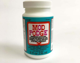 Mod Podge 8 oz in Gloss, Sparkle and Dishwasher Safe