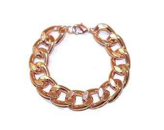 Chunky Rose Gold Link Bracelet - Arm Candy