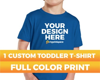 1 Custom Toddler T-Shirt Your Design Photo Text Full Color High Quality Digitally Printed Personalized T-shirt Custom Kids T-Shirts