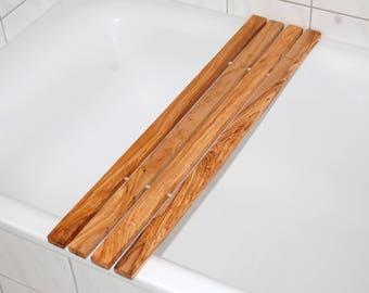 """Bathtub caddy, bath bridge """"classic"""" (75 cm) made of olive wood"""