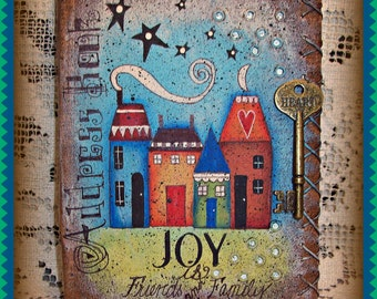 Key to Life Journal:  Address Book  - Painted by Martha Smalley, Painting With Friends E Pattern