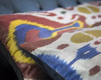 Multi colour Ikat long cushion THE IKAT SERIES