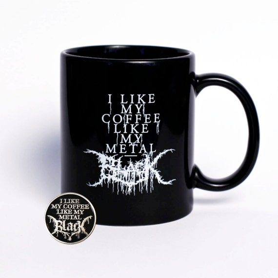 Black Coffee Mug and Pin Combo