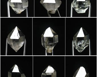 9 Pcs Top Quality Herkimer Diamond Crystal Quartz Single-end Specimen