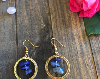 Blue heaven, lapis lazuli earrings