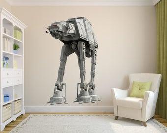 At-At walker Decal, Star Wars Art Decor, Star Wars Decal, At-At Decal, Fathead Mural, Star Wars Kid's Room Designs, At-at Sticker, Star Wars