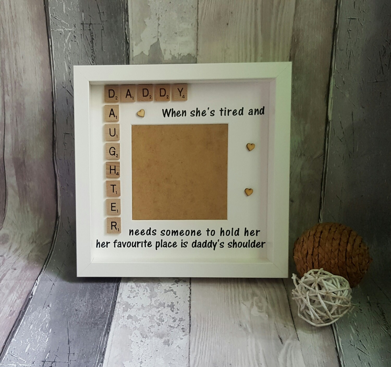 Father\'s Day Gift, Daddy & Daughter Frame, Personalised Father\'s Day ...