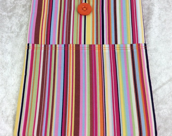 Handmade Tablet Case Cover Pouch iPad/Kindle MEDIUM Stripes