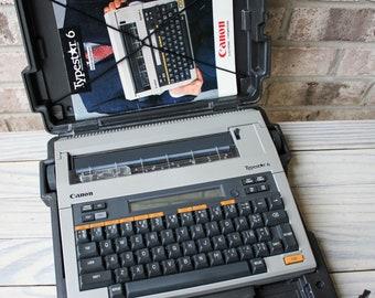 Canon Typestar 6 Working Typewriter Vintage Portable Electric Typewriter w/ Original Case and Instructions