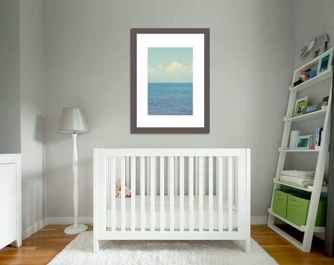 IN STOCK Vitamin Sea, Ocean Coastal Landscape, Pacific Ocean Ombre Blues Aqua, Beach House Decor, 8x12 Fine Art Photograph Home Wall Decor