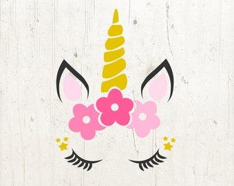 Unicorn SVG, Unicorn head Svg, Unicorn Clip Art, Unicorn Face SVG, Cute Unicorn SVG, svg files for Cricut, Silhouette Cut File Chevrons