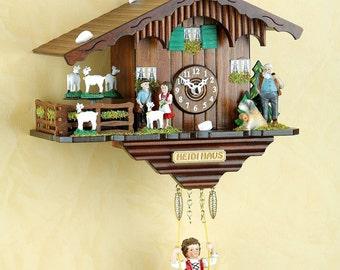 Original black forest- Heidihaus - Pendulum Cuckoo Clock with Night Switch, Cuckoo Call - Cuckoo Clock- handmade Germany Black Forest