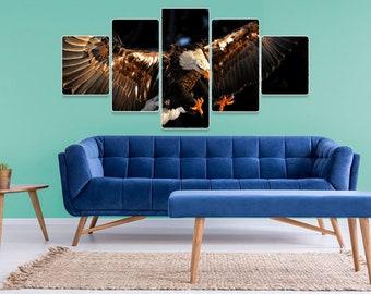 Eagle 5 Pcs Canvas Wall Art, Canvas Painting, Wizard Of Oz Art, Wizard Of Oz, Stretched Canvas, Wall Art Canvas, Wall Painting