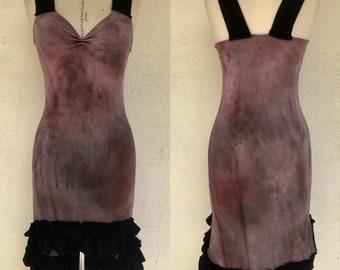 Fairy Dress - Hand Dyed Dress - Marble - Gothic Dress - Ruffled Dress