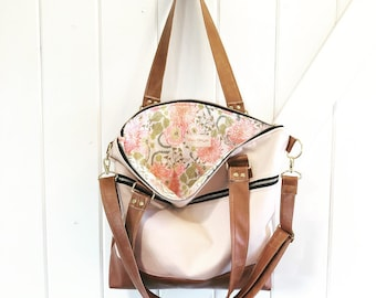 Made to order - blush pink regular tote with floral interior