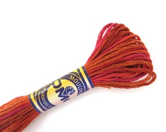 DMC 4130 Variegated 6 Strand Floss Chilean Sunset