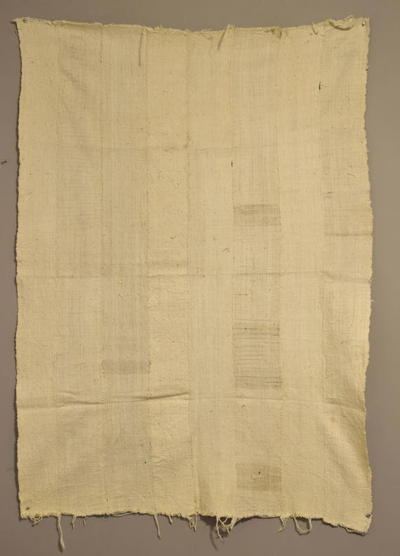 """African Mudcloth White Dogon Natural Cloth Fabric Clothing Mudcloth 59"""""""
