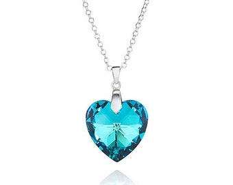 Titanic Crystal Heart Pendant Sterling Silver Necklace made with Swarovski® Crystals