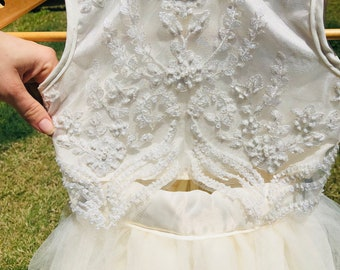 Lovely Ivory Flower Girl Dress * Made to Order*