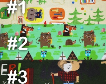 """Woodland Builders Construction Camping Extra Large Receiving Blanket - 36"""" x 42"""""""
