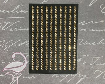 Self Adhesive Rhinestones Bronze 6mm 1 sheet (126 pcs)