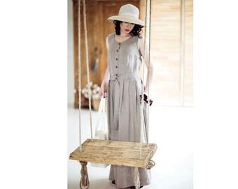Linen sleeveless dress - Linen summer dress - Pure linen dress - Maxi linen dress - Linen summer dress - Soft linen dress - EN-25