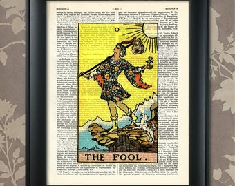 The Fool, Tarot Card Print, Tarot Card Poster, Tarot Print, Tarot art, Tarot wall art, Tarot Gift, Tarot Cards, Tarot Deck, Major Arcana