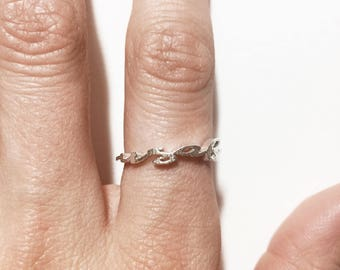 United States Air Force script ring
