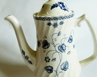 Wood and Sons 'Nantucket' Old Staffordshire Ironstone Coffee Pot or Teapot