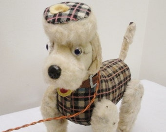 Vintage Battery Operated French Poodle - Needs Work