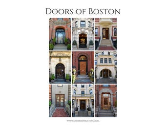 "5""x7"" Doors of Boston print - Boston doors, Boston photography, poster, print, wall art, home decor, photography, art, architecture, doors"