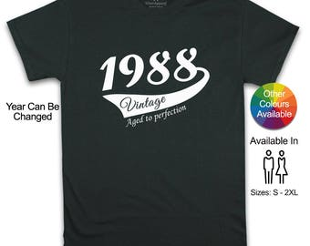 30th Birthday For Him, 30th Birthday Present Women, 30th Birthday Gift For Him, 30th Birthday Idea 1988 Birthday, 30th Birthday Shirt
