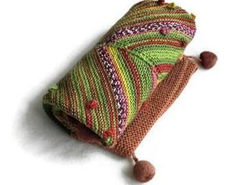 merino wool baby blanket-colorful baby blanket-hand knit baby blanket-merino baby hand knit blanket-neborn gift