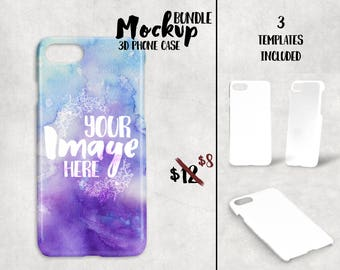 3D iphone 7 case mockup template | Add your own image and Background