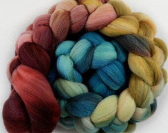 Plum Honey 1 merino wool top for spinning and felting - 3.9 ounces