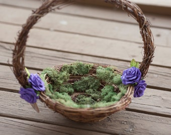 Flower Girl Basket Rose Basket Nest