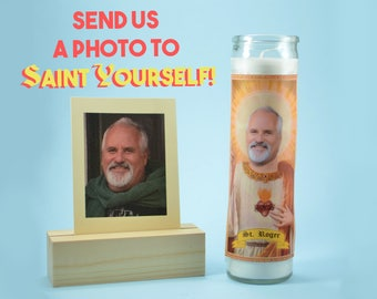 THE FATHER - Customized Prayer Candle - Devotional Candle - Funny Saint Candle - Funny Birthday Gift - Funny Office Gift - Gag Gift