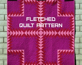 Fletched Quilt Pattern - A Pattern Digital Download (PDF) by Quilting Jetgirl