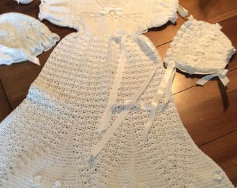 Heirloom vintage style christening gown crochet pattern baby crochet pdf pattern for flower petal christening outfit blessing gown baptism gown dt1010fo