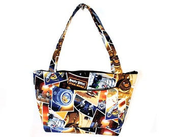 Small Geek Novelty Space Fabric Purse Handbag