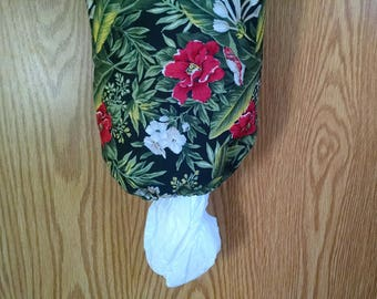 Grocery Bag Holder, Bag Dispenser, Plastic Bag Holder, Bag Storage, Flowers