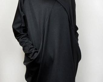 Loose dress/ Kaftan/ oversize dress/ loose tunic/ asymmetric dress/ asymmetric tunic/ black caftan.