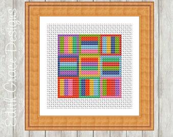 Cross Stitch Pattern - Geometric Art - Counted Cross Stitch Chart - Modern Cross Stitch Pattern - Modern Art - Geometric Pattern
