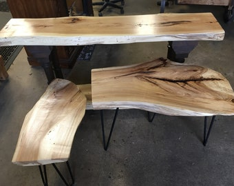 Hickory Entrance and two end tables