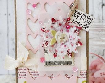 You Make My Heart Smile…Handmade Card